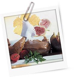 Fasan mit Gemüse geschmort