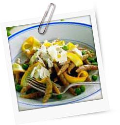 Trofie mit Zucchini und Erbsen